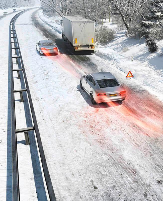 Зимнее вождение с системой ABS